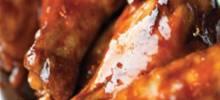 Teriyaki Chicken Wings with Hot Mango Dipping Sauce