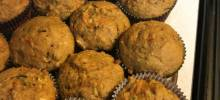 tropical zucchini carrot muffins