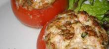 Tuna and Goat Cheese Stuffed Tomatoes