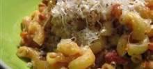 turkey ragu with fontina and parmesan