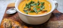 vegan butternut squash soup with coconut milk