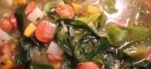 Vegan Japanese Winter Squash and Leek Soup