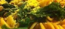 Vegan Lentil, Kale, and Red Onion Pasta