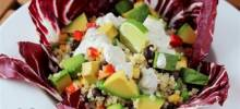 Vegan Mexican Quinoa Bowl with Green Chile Cilantro Sauce