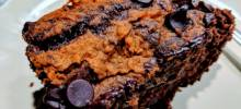 vegan pumpkin brownie