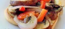 Vegetarian Mushroom Philly Cheese Steak Sandwiches