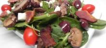 warm mushroom salad with pancetta