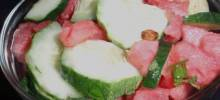 Watermelon-Cucumber Salad with Sushi Vinegar and Lime