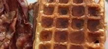 whole wheat coconut oil waffles