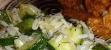 Zucchini with Dill Weed and Garlic-Yogurt Sauce
