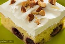 Almond Cherry Tres Leches Cake