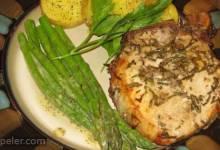 Anchovies-Rosemary Pork Chops