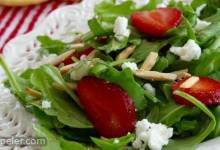 Arugula and Strawberry Salad with Feta Cheese