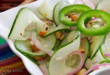 Asian-nspired Cucumbers with a Kick