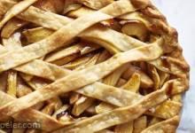 Autumn Apple and Pear Lattice Pie