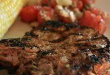 Basil-Garlic Grilled Pork Chops