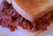 Big Game Grape Jelly Barbeque Ham Sandwiches