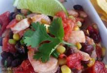 Black Bean, Corn, Tomato, and Shrimp Salad