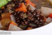 Black Lentil Veggie Soup