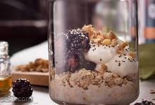 Blackberry Honey Walnut Overnight Oats