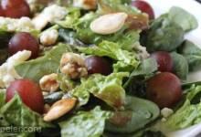 Blue Spinach Salad