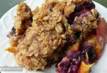 Blueberry and Peach Crisp