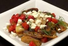 braised fennel with tomatoes and feta