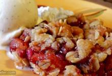 brenda's apple and pomegranate crisp