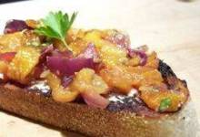 Bruschetta with Roasted Sweet Red Peppers