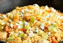 Buffalo Chicken & Rice Skillet