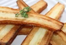 butter fried parsnips