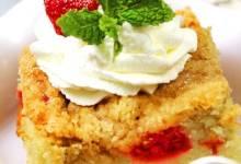 buttermilk mango-berry crumb cake