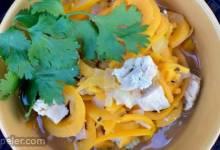 Butternut Squash Noodle Soup with Turkey