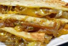 Caramelized Onion and Jalapeno Quesadillas
