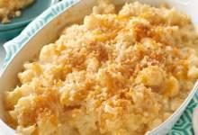 """cauliflower """"mac and cheese"""" bake"""
