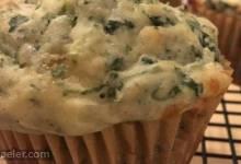 Cheesy Kale Muffins