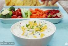 Cheesy Sour Cream and Salsa Dip