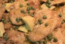 Chicken Piccata with Artichoke Hearts