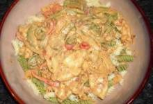 chicken with pepper cheese sauce