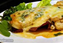 Chicken with Prosciutto, Sage, and Fontina Cheese