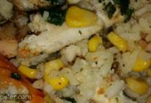 Chicken with Wild Rice and Vegetables Casserole