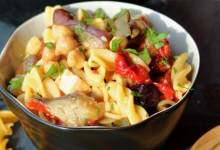 chickpea-on-chickpea pasta salad