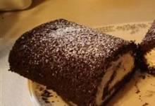 chocolate-banana cake roll