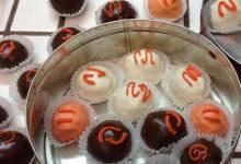 chocolate covered orange balls