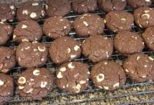 Chocolate Macadamia Nut and White Chocolate Chip Cookies