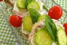 Christa's Cucumber Basil Tea Sandwiches