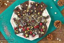 Christmas Chocolate Bark 3 Ways: Pistachio, Pink Peppercorn, and Currant Bark