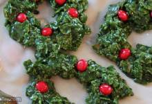 christmas cornflake wreath cookies