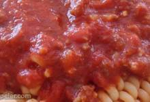 Chunky Red Sauce with Ground talian Sausage