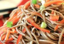 Cold Szechuan Noodles and Shredded Vegetables